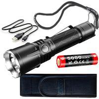 KLARUS XT21X CREE XHP70.2 P2 LED 4000 lumens 7 Mode Tactical Led Flashlight Micro USB 2A 5000mAh Li ion battery for Self Defence