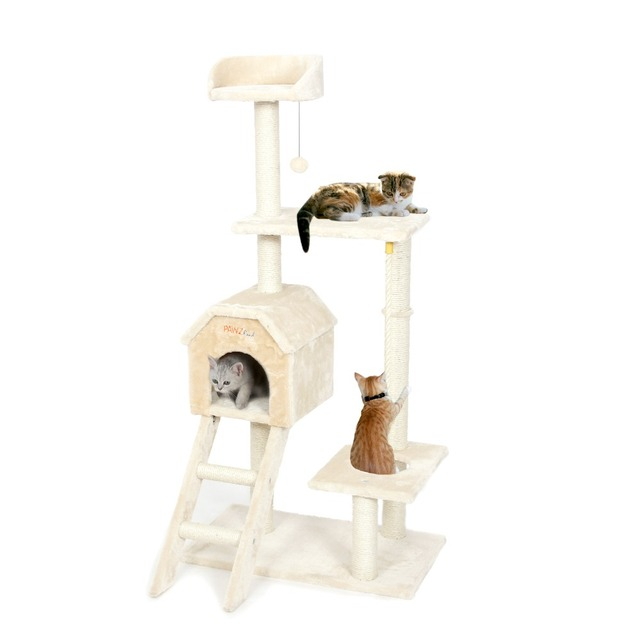 Domestic Delivery Cat Bed Climbing Tree Kitten Scratching Wood Furniture Suitable Kitten Playing Training For Fun Fast Shipping