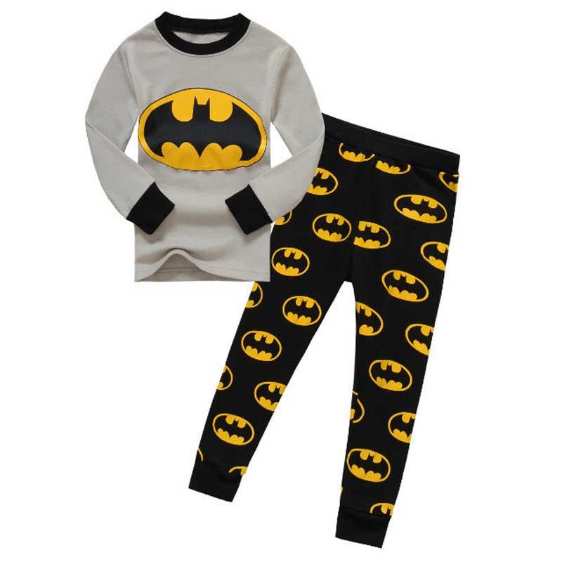Kartun musim gugur musim semi font b Batman b font anak laki laki pijamas Piyama anak anak batman piyama beli murah anak batman piyama lots from china,Baju Anak Anak Batman