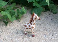 cute small simulation giraffe toy handicraft Polyethylene&fur little giraffe doll gift about 10x6cm