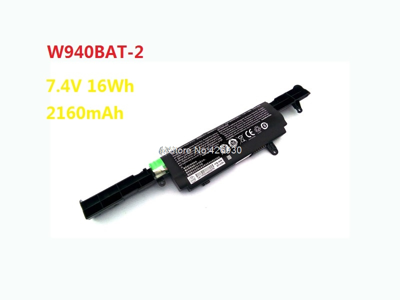 Laptop Battery For CLEVO W940 6-87-W945S-42F-1 W940BAT-2 7.4V 16Wh 2160mAh New and Original w540bat 6 6 87 w540s 4271 6 87 w540s 4w41 laptop battery for clevo w540eu w550su eu m1519 ssd v2 ldlc aurore bb5 b8 2 h1 slim