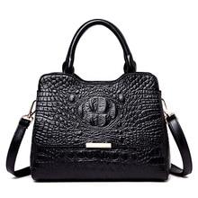 Модные женские сумки из натуральной кожи с крокодиловым узором, сумки через плечо для женщин, роскошные Брендовые женские кожаные сумки через плечо