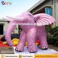 Бесплатная доставка животных Тип фиолетовый гигантские надувные слон для детей Игрушечные лошадки