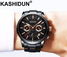 KASHIDUN. Luxury Brand Mens Sports Watches Waterproof Military Watch Men Fashion Casual Japanese Quartz Wristwatches Hot Clock