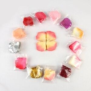 2000 قطعة بوكيه ورد صناعي بتلات الزفاف Petalas الملونة زهرة الحرير اكسسوارات