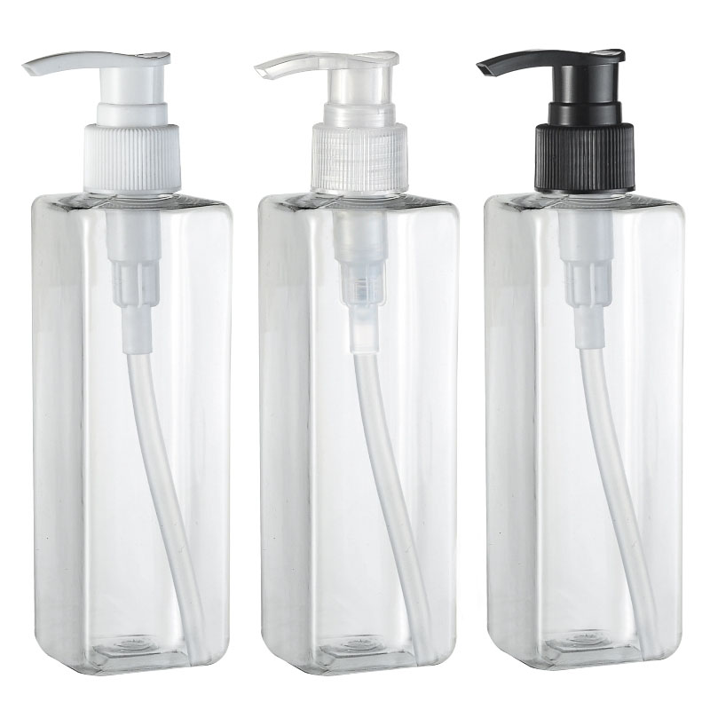 30pcs/lot 250ml  Pump Bottle Emulsion Bottling Cosmetics Packaging Bottle  PET Plastic Bottle For Trial Of Shampoo