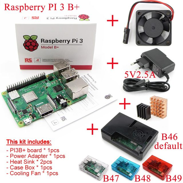Raspberry Pi 3 Essentials Kit Model B+plus with WiFi Bluetooth 2.5A Power