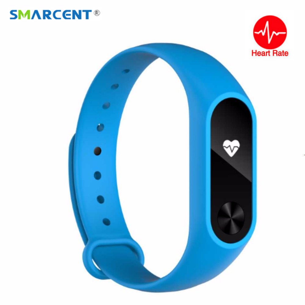SMARCENT M2 Smart Band Heart Rate Sleep Monitor Smartband Call Message Reminder Sports Wristband Bracelet for