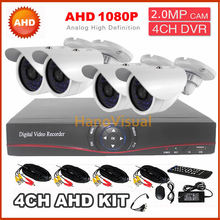 New CCTV System AHD Kit 4ch DVR 2.0MP 1080p indoor AHD dome analog camera Security CCTV HD camera monitoring system for home use