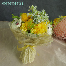 Exclusive Sales Yellow Bouquet Gift-White Anemone+Yellow Hydrangea Arrangement Wedding Bride Party Event Free Shipping