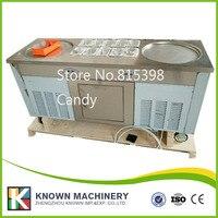 Грузовые бесплатно 220 В R410A морозильник двойной Пан машина для готовки мороженого
