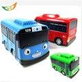 Tayo bus miniatura tire hacia atrás del coche mini aleación bebés oyuncak modelo del metal del coche tayo el pequeño bus de Navidad para los niños regalo