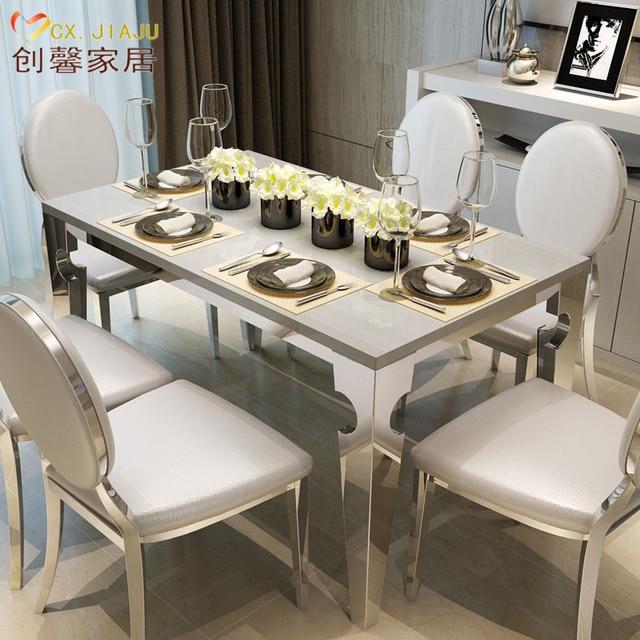 M rmol rectangular de comedor mesas y sillas combinaci n for Mesas y sillas para comedor pequeno