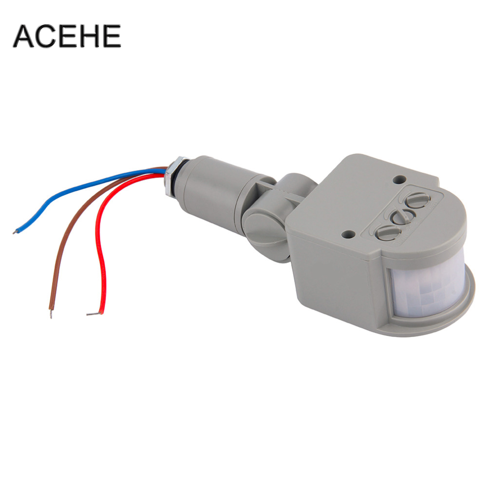 цена на ACEHE Outdoor Motion Sensor Switch 220V 12V Wall Light Lamp LED PIR Infrared Motion 180 Degree Rotating Switch Sensor Detector