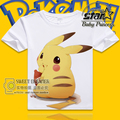 Pokemon Go Baby Boy T shirt Cartoon Child Cotton Tops Pikachu Ttee O neck High Quality Children Tees