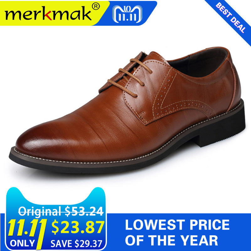 2018 New High Quality Genuine Leather Men Brogues Shoes Lace-Up Bullock Business Dress Men Oxfords Shoes Male Formal Shoes vertex impress mars
