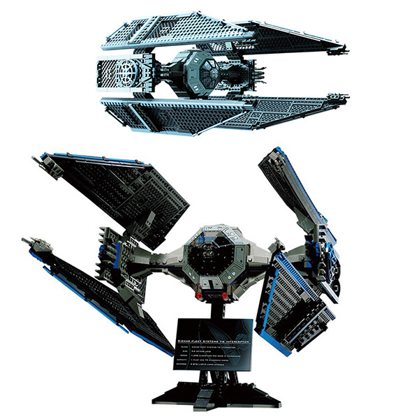 Lepin 05044 703Pcs Space War Series Limited Edition The TIE Interceptor Building Kit Block Bricks Children Gifts 7181 rollercoasters the war of the worlds