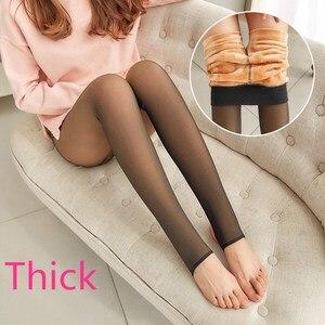 Image 5 - SVOKOR Winter Leggings Dicke Legins Frauen Durch Die Fleisch Warme Hosen frauen Leggings Warme Mesh Leggins Für Frauen