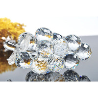 3D Crystal Clear Grape Figurine Paperweights Fruit Ornaments Wedding Gifts Decoration Home Office Decoration Free shipping