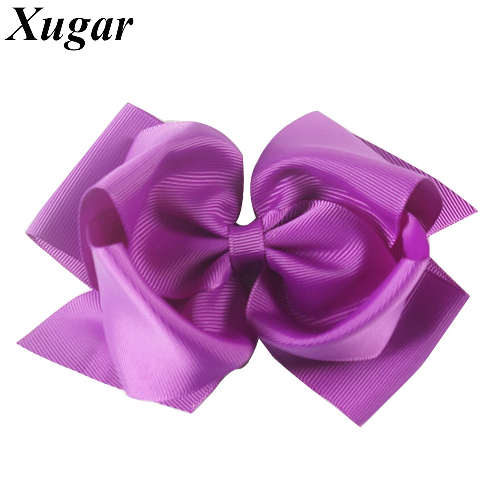 1 PC 6'' Girls' Two Layers Grosgrain Ribbon Hair Bow Hairclips Handmade Bowknot Boutique Hair Accessories For Kids 20 Colors 10pcs lot high quality hair band with grosgrain ribbon flower for girls handmade flower hairbow hairband kids hair accessories