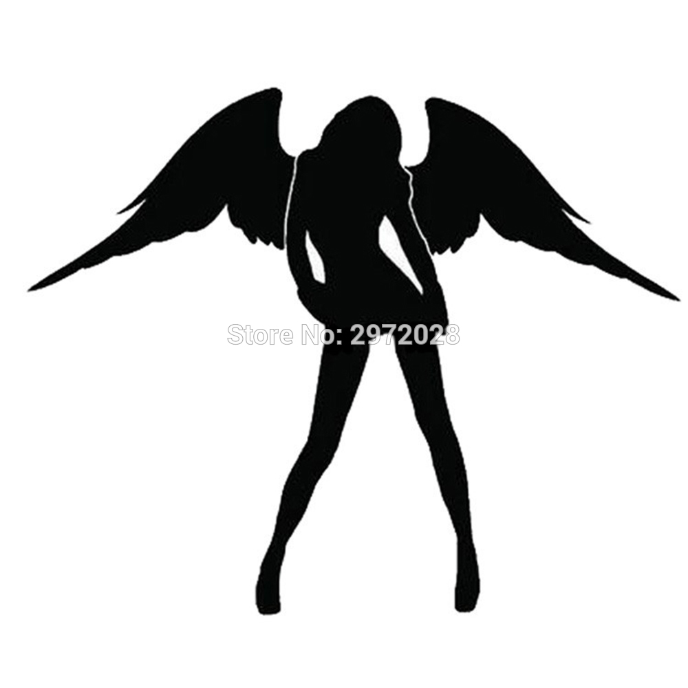 10 x New Angel And Evil <font><b>Sexy</b></font> Girl Car Creative <font><b>Accessory</b></font> Decal Cartoon Car Reflective Sticker Body Decal Creative Pattern Vinyl image