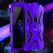 Caixa de metal para Sony Xperia XZ2 prémio Nova Série Thor caso para Xperia XZ2 prémio tampa da caixa de Alumínio de Aviação Zimon rígida puro