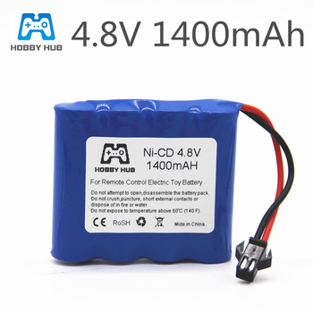 1/2/3pcs NI-CD 4.8V 1400mah rechargeable AA Battery for Remote control toy electric toy 4.8 v 1400 mah nicd rechargeable battery image