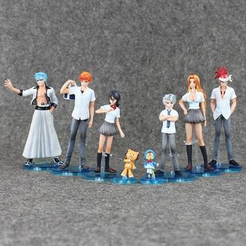 8pcs Lot Anime Bleach Toys Kurosaki Ichigo Kuchiki Rukia Aizen Sousuke Hitsugaya Pvc Action Figures Model Toy Doll Buy At The Price Of 22 91 In Aliexpress Com Imall Com