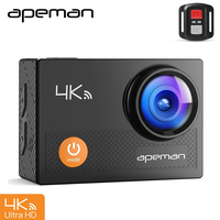 Apeman Action Camera A77 4k 1080p Waterproof Action Cam Pro Wifi Sport Helmet Video Camera With