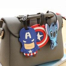 Милый багаж Капитан Америка, аксессуары для путешествий, бирка, силикагель, чемодан, ID Addres, держатель, багажная бирка, переносная этикетка