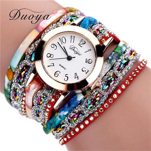Women Flower Bracelet Watch
