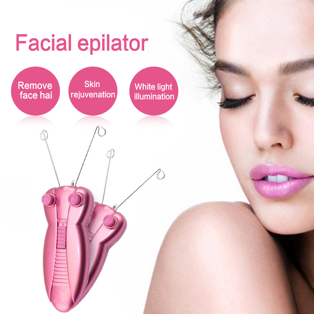 Professional Electric Face Hair Remover Defeatherer Cotton Thread Depilator Shaver Facial Beauty Care Machine For Women
