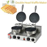 Electric Double Head Waffle Maker Mould Plaid Cake Furnace Heating Machine Square Waffle Oven Hot Sale FY 2