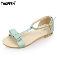 Woman Flat Sandals Sweet Bow Tie Student Flats Sandalias Girl Shoes Women Beach Lady Peep Toe