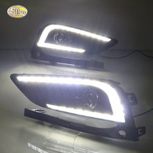 SNCN LED Daytime Running Lights for Chevrolet Cruze 2016 2017 Fog lamp 12V DRL with turn signal lights sncn led fog lamp for ford fiesta 2009 2016 with daytime running lights drl 12v high brightness