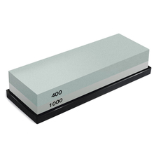 Hot sale Whetstone, 2-IN-1 Sharpening Stone 400/1000 Grit Waterstones, Knife Sharpener Rubber Holder Included
