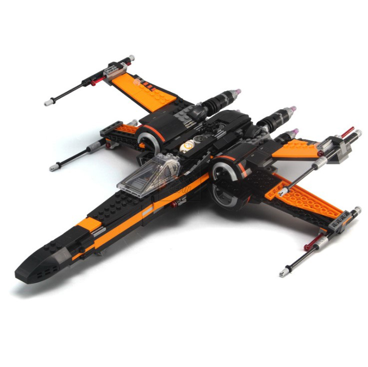 Poe's X-wing Fighter legoings Star Wars Building Blocks Assembled Toys for children Figures Compatible 05004 Defiance hot sale building blocks assembled star first wars order poe s x toys wing fighter compatible lepins educational toys diy gift