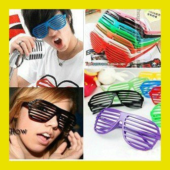 Club Party glasses Full Shutter sunglasses Shades plastic sunglasses Sports Sunglass Unisex Glasses