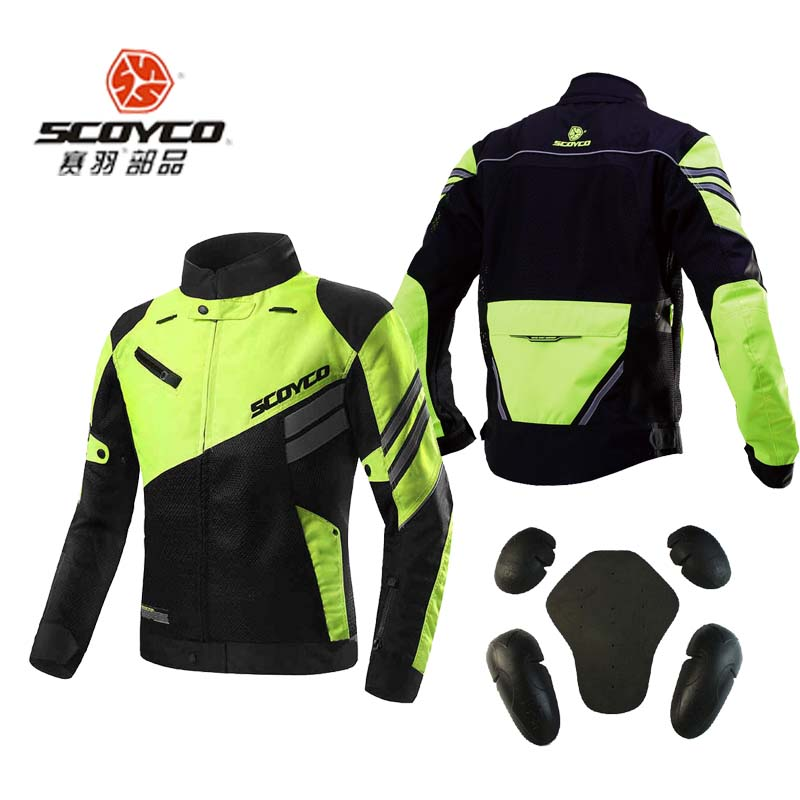summer spring autumn ventilate SCOYCO JK36 Double mesh cloth motorcycle jacket with Protective Gears