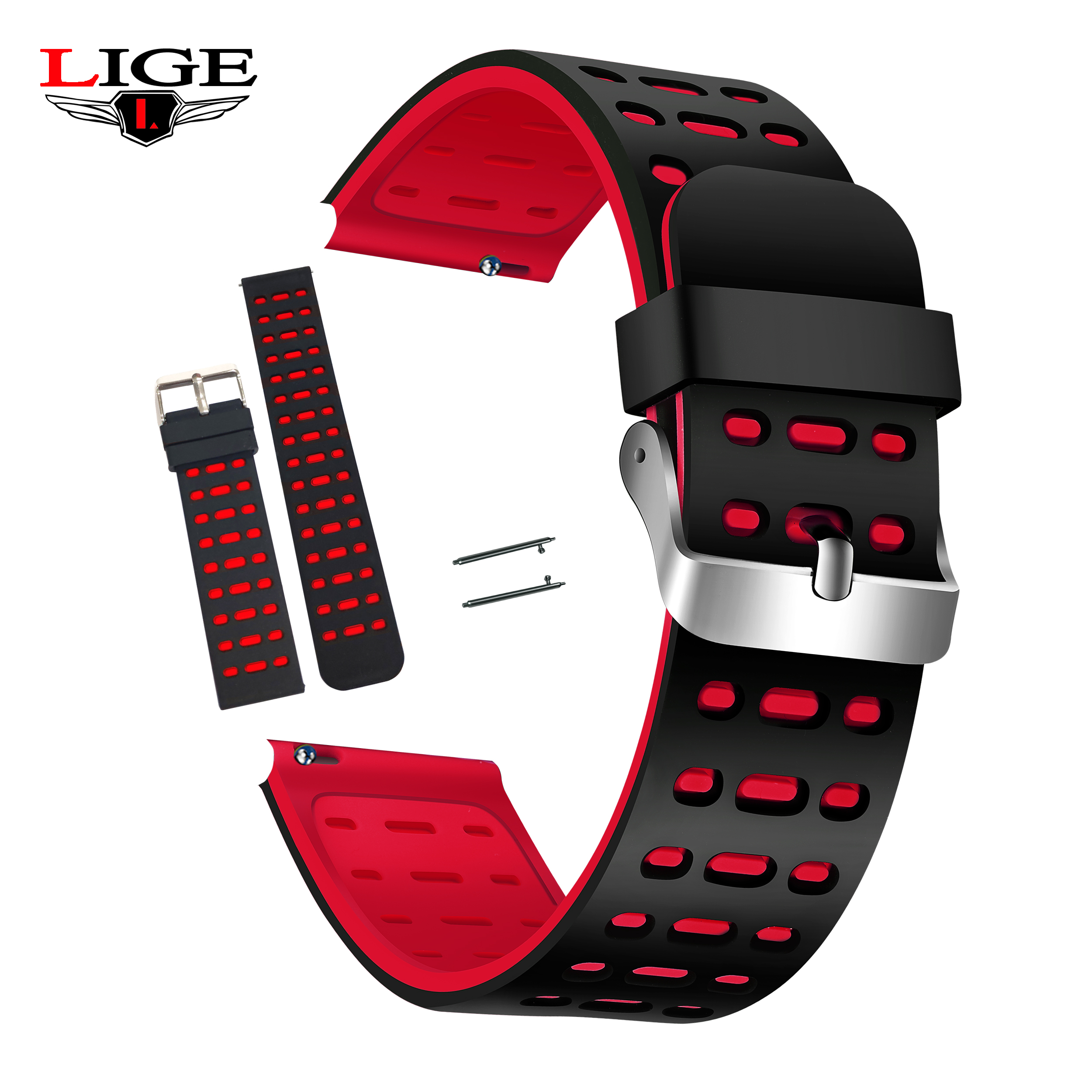 LIGE BW0059 Smart Watch Replacement Soft Silicone Wristband Strap Replaced With Bracelet