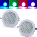 Free shipping  2*Sound Control 136RGB 5050 LED Strobe DownLight Disco Party DJ Lamp Show Projector Stage Lighting Effect