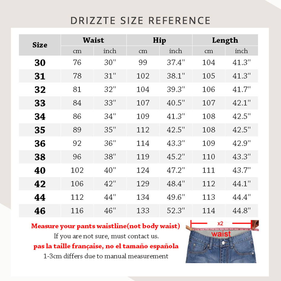 Drizzte Men Jeans Plus Ölçü 28-dən 46-dək Trendy Stretch Stretch - Kişi geyimi - Fotoqrafiya 2