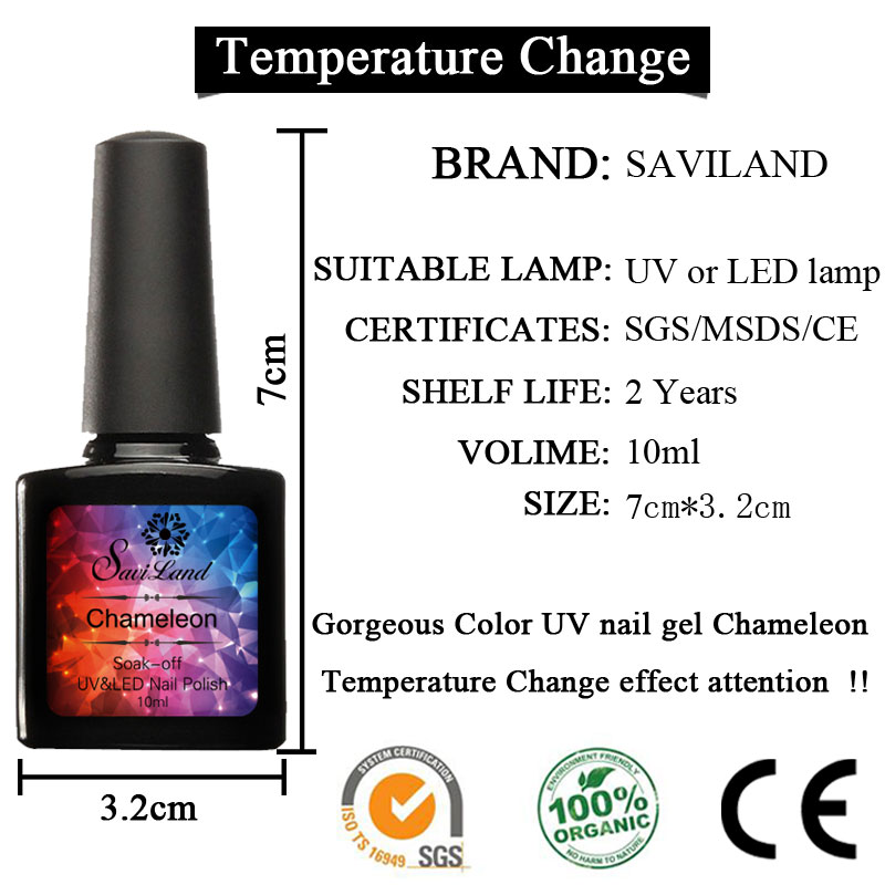 Aliexpress.com : Buy Saviland 6Pcs 10ml Thermal Chameleon ...