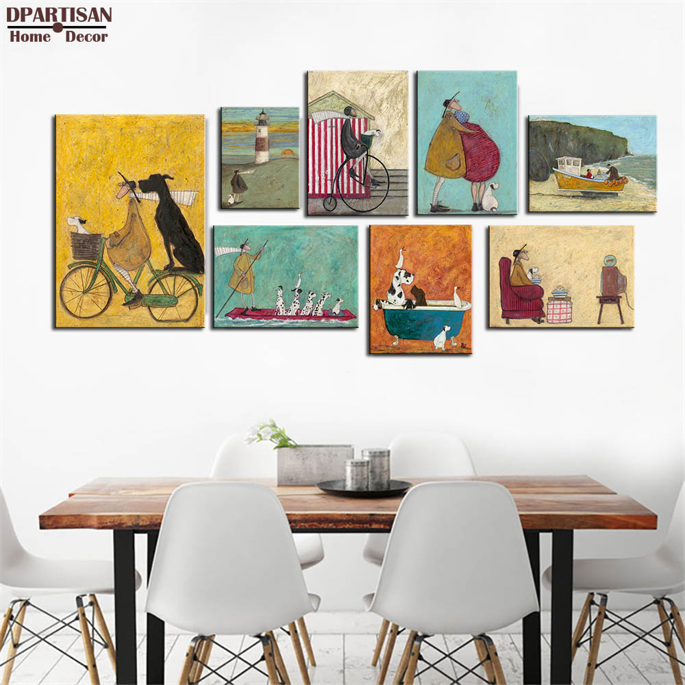 DPARTISAN Nordic Retro Abstract Art Canvas Painting Poster Prints ...