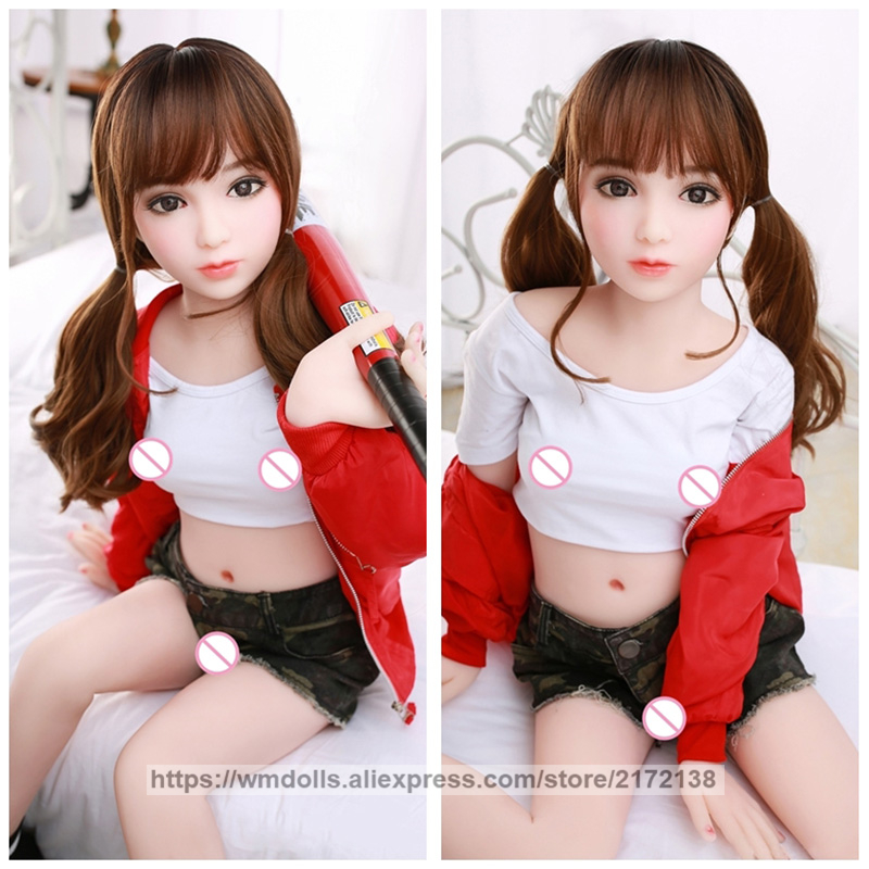 <font><b>100cm</b></font> Realistic Mini Silicone <font><b>Sex</b></font> <font><b>Dolls</b></font> Real Cute Anime Girl TPE Love <font><b>Dolls</b></font> Adult Toys Sexy Flat Chest For Men image