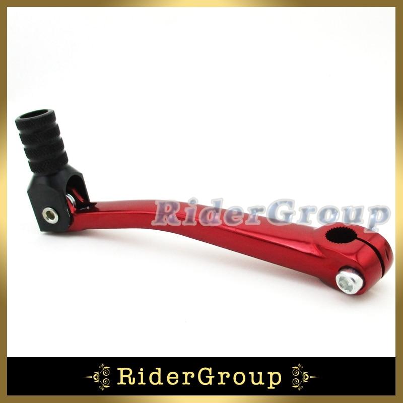Red Aluminum Gear Shift Lever Throttle Grips 50-125cc Dirt Pit Bike ATV Scooter
