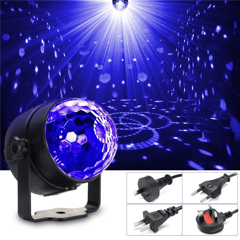 Big Promotion UV Purple LED Stage Lighting Effect Three Modes 3W Crystal Magic Ball Stage Light For Party Disco Club Lights mini rgb led party disco club dj light crystal magic ball effect stage lighting