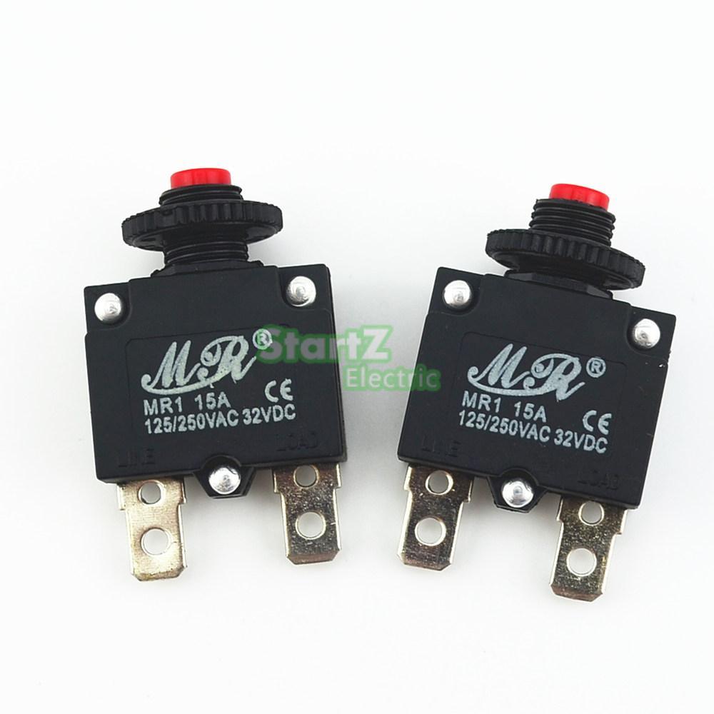 10Pcs 15A Circuit Breaker Overload Protector Switch Fuse leakage circuit protector air switch residual current circuit breaker dz15le 100 490 100a