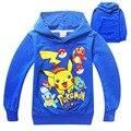 Ropa de los muchachos hoodie Elf bebé suéter de algodón niños ropa para niños con capucha de manga larga Camiseta niños tops tee POKEMON IR