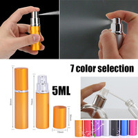 MUB 50PCS 5ml 10ml Mini Portable Travel Aluminum Refillable Perfume Bottle With Spray&Empty Cosmetic Containers With Atomizer